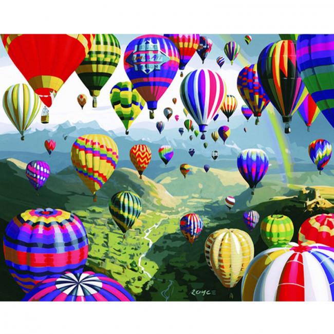 Kit pictura pe numere cu peisaje, Fireflies of Color