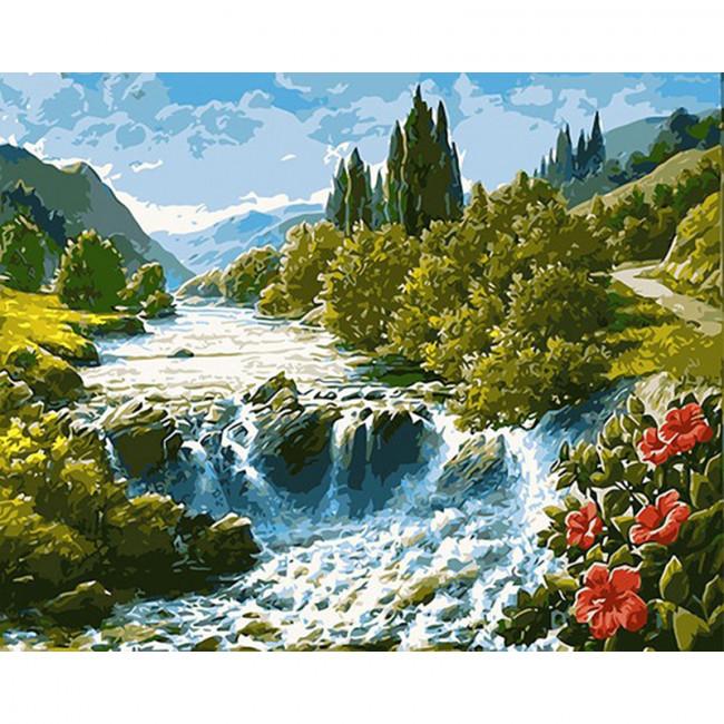Kit pictura pe numere cu peisaje, Forest River