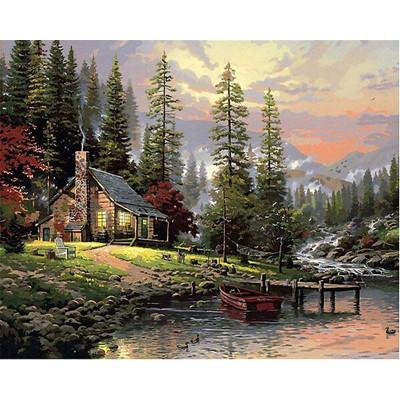 Kit pictura pe numere cu peisaje, Communing with Nature