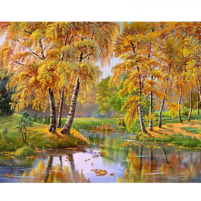 Kit pictura pe numere cu peisaje, Reflections of the Sun