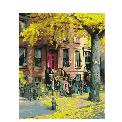 Kit pictura pe numere cu peisaje, Madison Avenue nr. 11