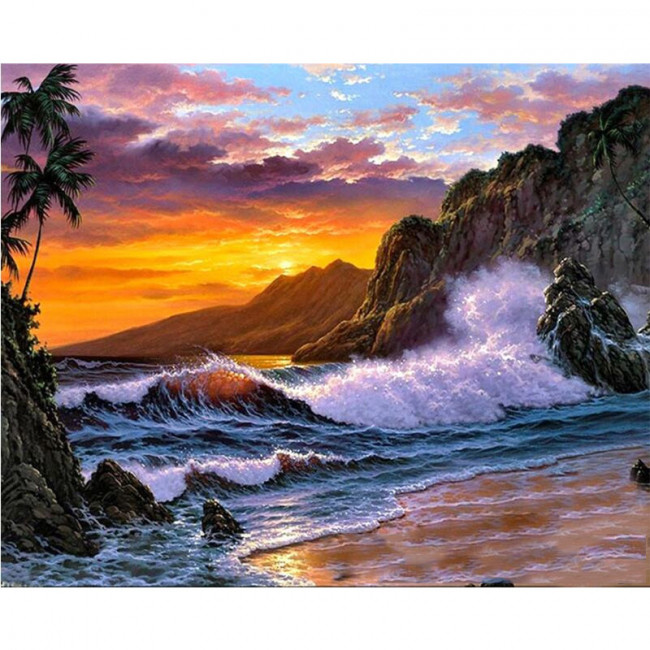 Kit pictura pe numere cu peisaje, Roots of Paradise