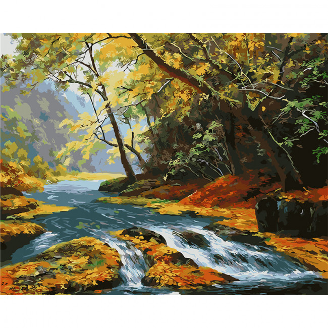 Kit pictura pe numere cu peisaje, Ravaging Falls
