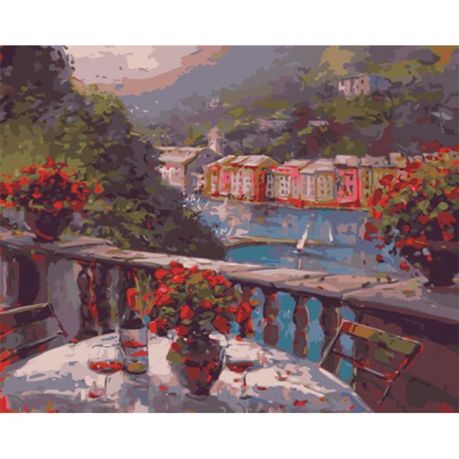 Kit pictura pe numere cu peisaje, Romance of the City
