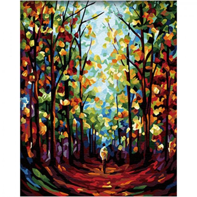 Kit pictura pe numere cu peisaje, Womb of Autumn