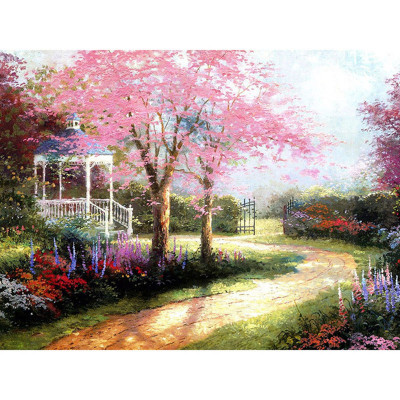 Kit pictura pe numere cu peisaje, Gazebo in the Garden
