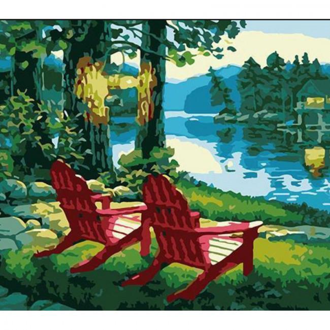 Kit pictura pe numere cu peisaje, Our Spot