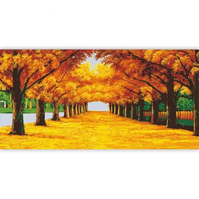 Kit pictura pe numere cu peisaje, Embrace of Autumn