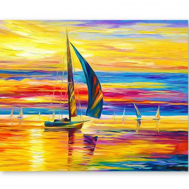 Kit pictura pe numere cu peisaje, Fishermen's