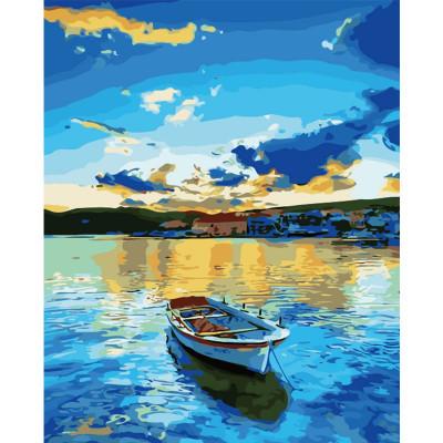 Kit pictura pe numere cu peisaje, The Boat