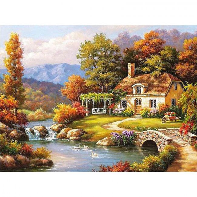 Kit pictura pe numere cu peisaje, The source of peace