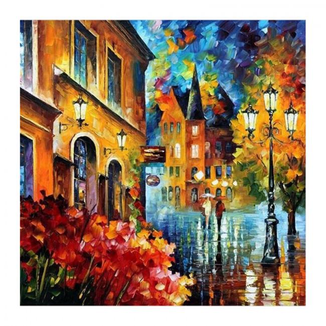 Kit pictura pe numere cu peisaje, The monotony of the city