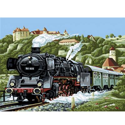 Kit pictura pe numere cu peisaje, Train SO 622