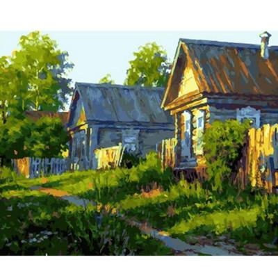 Kit pictura pe numere cu peisaje, Native village
