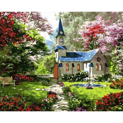 Kit pictura pe numere cu peisaje, Saint place