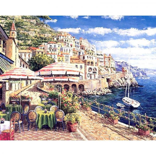 Kit pictura pe numere cu peisaje, My terrace view