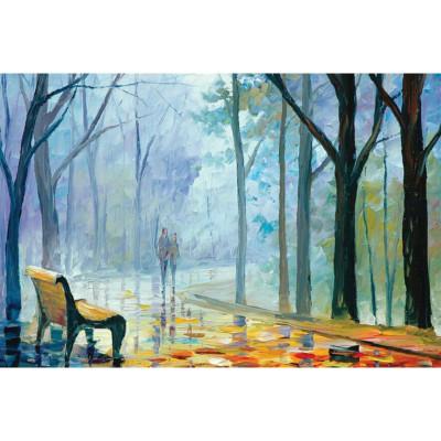 Kit pictura pe numere cu peisaje, Walk through the park