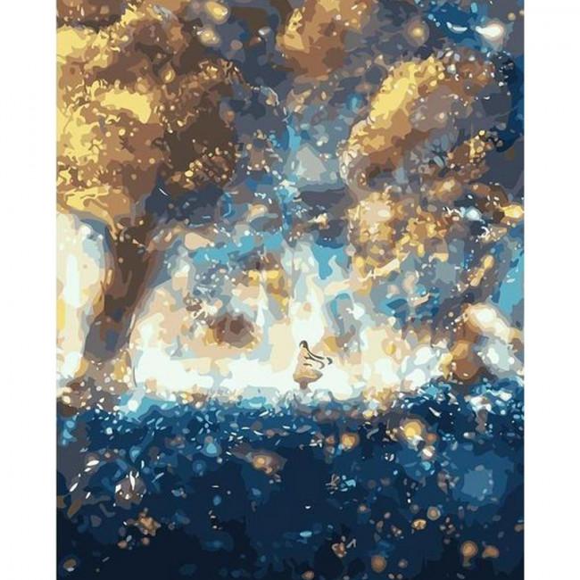 Kit pictura pe numere cu peisaje, Magic night