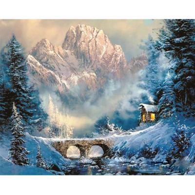 Kit pictura pe numere cu iarna, DTP804