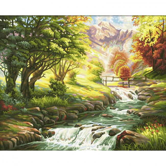 Kit pictura pe numere cu peisaje, DTP837