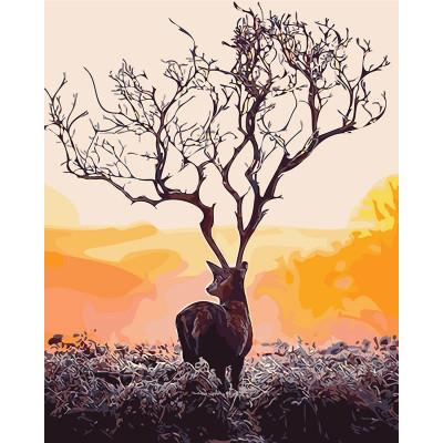 Kit pictura pe numere cu animale, MDZ694