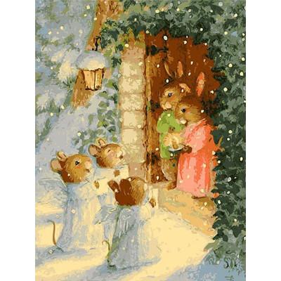Kit pictura pe numere cu iarna, Christmas Carols