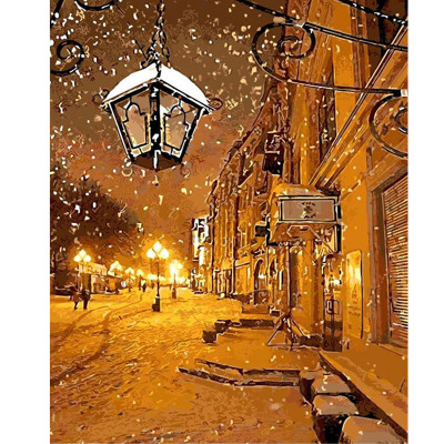 Kit pictura pe numere cu iarna, DTP982