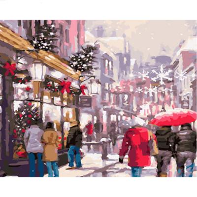 Kit pictura pe numere cu iarna, DZ1666