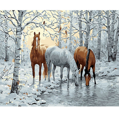 Kit pictura pe numere cu iarna, DZ1751