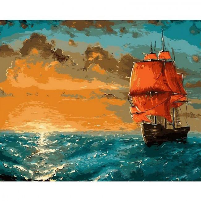 Kit pictura pe numere cu vapoare, Ahoy, Captain