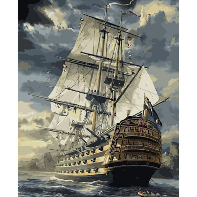Kit pictura pe numere cu vapoare, Sailing Ship