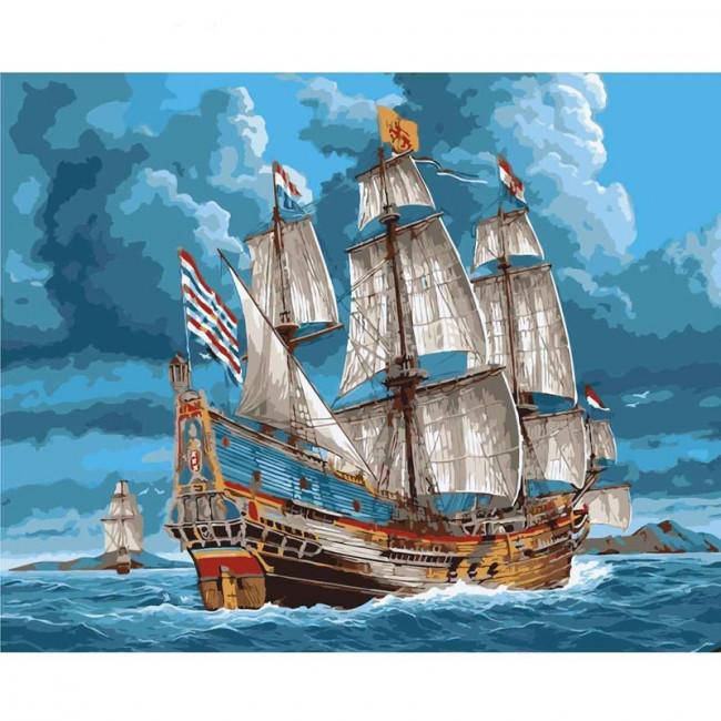Kit pictura pe numere cu vapoare, Sailing Around