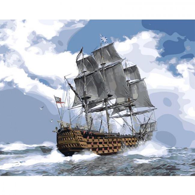 Kit pictura pe numere cu vapoare, Stormy Weather