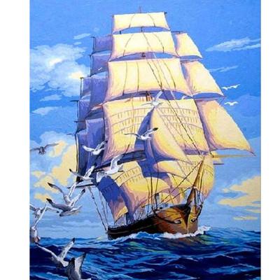 Kit pictura pe numere cu vapoare, DTP1148