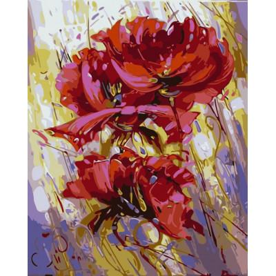Kit pictura pe numere cu flori, NDTP-1047