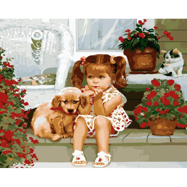 Kit pictura pe numere premium cu animale, NDTP-1060R