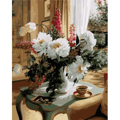 Kit pictura pe numere cu flori, NDTP-1064