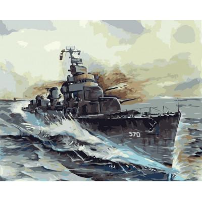 Kit pictura pe numere cu vapoare, NDTP-111R