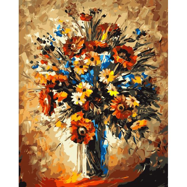 Kit pictura pe numere cu flori, NDTP-271