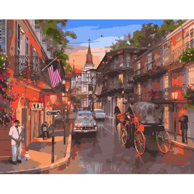 Kit pictura pe numere cu orase, NDTP-308
