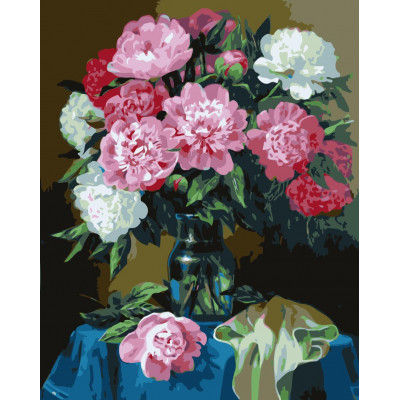 Kit pictura pe numere cu flori, NDTP-666