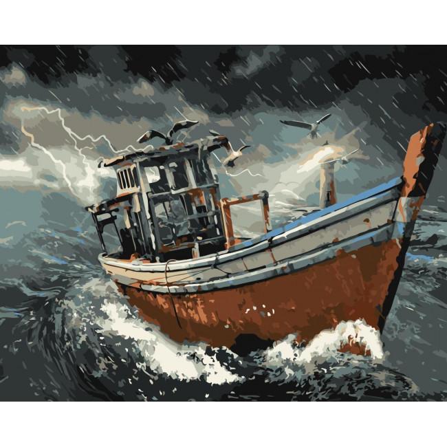 Kit pictura pe numere cu vapoare, NDTP-844