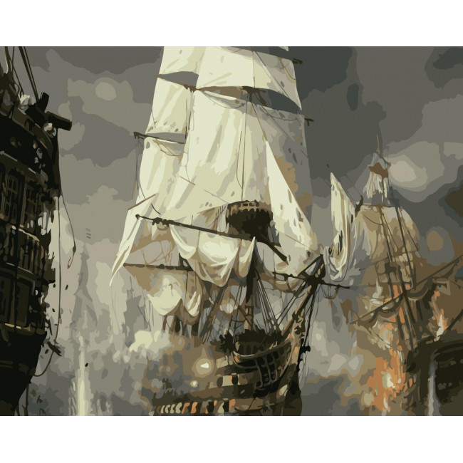 Kit pictura pe numere cu vapoare, NDTP-871
