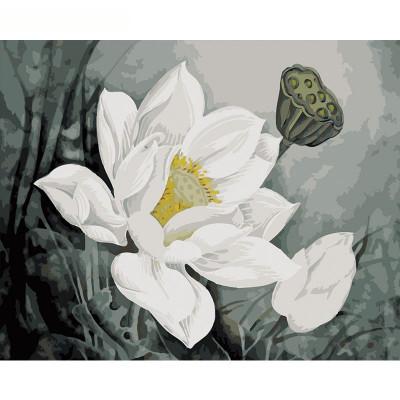 Kit pictura pe numere cu flori, DZ1682
