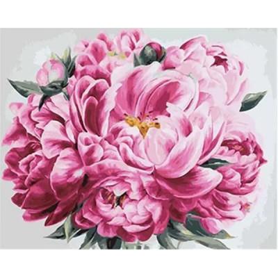 Kit pictura pe numere cu flori, DZ2078