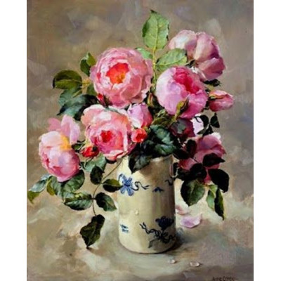Kit pictura pe numere cu flori, DZ2079