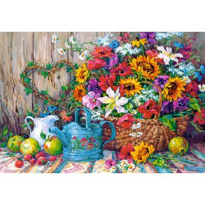 Kit pictura pe numere cu flori, DZ2117