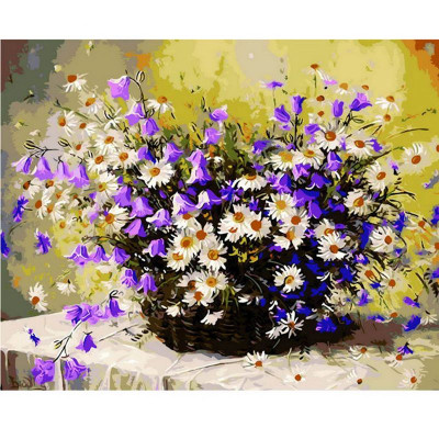 Kit pictura pe numere cu flori, DZ376