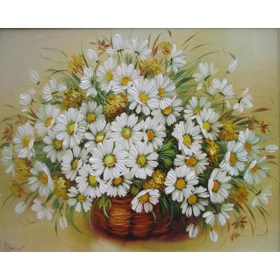 Kit pictura pe numere cu flori, DZ40