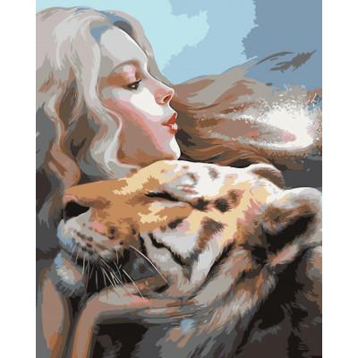Kit pictura pe numere cu animale, NDTP-049